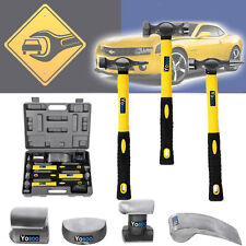 7PCS hand car auto body work hammer and dolly fender tool dent repaire set kit A