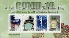 More details for dominica medical stamps 2020 mnh corona tribute to front line health 4v m/s