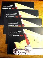 1956 Plymouth Brochure LOT (4) pcs Belvedere Plaza Savoy