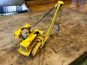 Vintage Gescha - Caterpillar 594 Tractor Pipe Layer Diecast Construction Toy