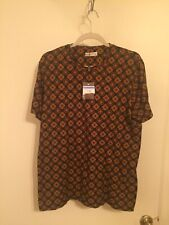 Men's ETRO Medallion Multi Short Sleeve Tee Shirt Size Large $310 Italy