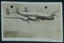 NETHERLANDS KLM ROYAL DUTCH AIRLINES 1948 USED POSTCARD!