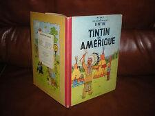 TINTIN EN AMERIQUE - EDITION 1957 4e PLAT B21 DOS ROUGE