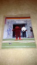 Virginia Tech Hokies Signed HOKIE BIRD 8x10 Tyrod - Thomas Buffalo Bills, Miami