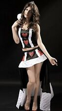 Ladies Sexy Queen of Cards/Hearts Quality Costume 2 Piece Size 10-12 Top & Skirt