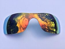 POLARIZED ORANGE REVO MIRROR REPLACEMENT OAKLEY BATWOLF LENS & CARRY POUCH