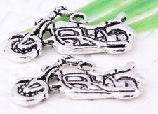 Free Ship 24Pcs Tibetan Silver(Lead-Free)Motorcycle Charms Pendant 25x14mm