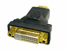 DVI-D Female (24+1 pin) to HDMI Male ( 19 pin) Monitor HDTV Adapter, Gold Plated