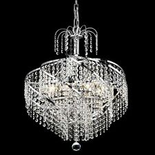 """Palace Spiral 6 Light Crystal Chandelier Ceiling Light Chrome 14""""x16"""""""