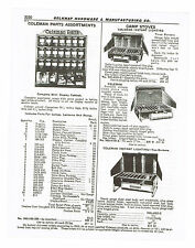 1955 AD COLEMAN CAMP STOVES, INSTANT LIGHTING, 2,3 BURNERS COLEMAN PARTS DISPLAY