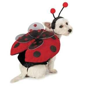 Dog Halloween Costume Ladybug Costumes Dress Pet Lady Bug Casual Canine