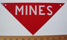 1966 Vietnam Era Metal Mine Sign Nos