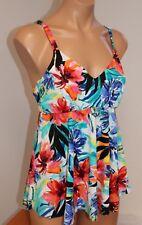 NWT Swim Solutions Swimsuit Bikini Tankini Top Size 18 Underwire Fits Cup D