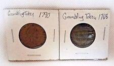 Set of 2 ~ 1768 /1790  GEORGE III GAMING TOKENS
