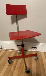 vintage rabami stole red kevi chair danish Mcm Mid Century Jorgen Rasmussen
