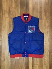 Mitchell & Ness Mens New York Rangers Vest Large GREAT RARE Stanley Cup