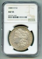 1880 O Morgan Silver Dollar NGC AU 55