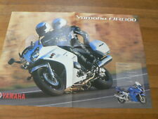 Y108B-YAMAHA POSTER BROCHURE  FZS1000 FAZER AND YZF-R1 DUTCH 8 PAGES FOLDED