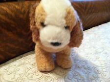 """Aurora World 10"""" White & Brown Plush Soft Standing LABrador Dog Puppy ~ CUTE!!!!"""