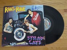 Bassist LEE HOCKER signed RANT N' RAVE with the STRAY CATS 1983 Record / Album