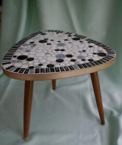 Nierentisch Vintage 50er 60er Glassteine Couchtisch Beistelltisch 3-Bein Mosaik