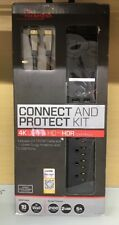 Rocketfish RF-HTB517 7-Outlet Surge Protector and 4K HDMI Cable Combo Kit  (O1)