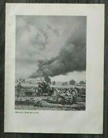 AQ) Blatt 2.WK 1940 Artillerie Geschütz Deutsche Kampfflieger Flugzeuge WWII