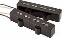 Fender Original Jazz J Bass Black Pickups Set - 099-2123-000