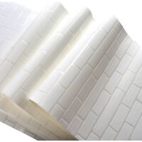 3D White Stone Brick Wall Wallpaper Roll Modern Non-woven Wall Papers Home Decor