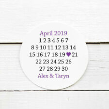 Save the Date Calendar Sticker Seals