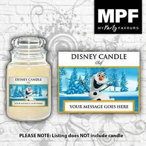 Personalised 'Olaf' Candle Label/Sticker - Perfect birthday gift!