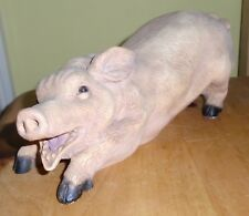 PIG RESIN FIGURINE 1.8 KG  made in italy Castagna ,& 24cm long