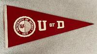 Vintage University of Detroit Pennant