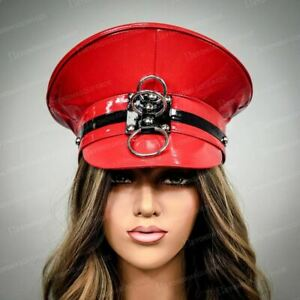 Steampunk Hat Red Halloween Costume Hat Sexy Police Costume Cap Hats Gothic