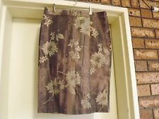 Sportsgirl Bronze Floral Knee Length Skirt sz 10