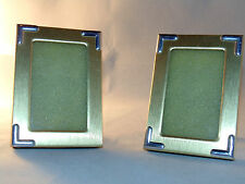 Gold Picture Frames Set of 2 Contemporary 3.5x2.5 Photos Table Top Home Decor