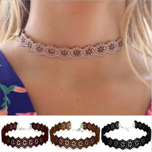 New Fashion Leather Flower Classic Choker Necklace Vintage Hippy Choker