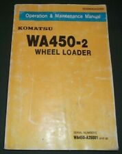 KOMATSU WA450-2 WHEEL LOADER OPERATION & MAINTENANCE BOOK MANUAL S/N A25001-UP