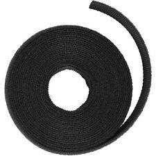 Doppelseitige Klettband Rolle, Länge 3 Meter, Breite 10mm, schwarz