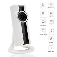 1080P HD 2.0MP Wifi Webcam Panoramic Wireless IP Camera Fisheye IR Night Vision