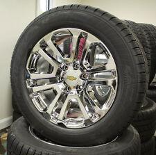 """Set 4 New 20"""" Chrome Chevrolet Silverado Suburban Tahoe Wheels Rims Tires"""