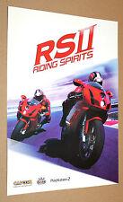 2004 Capcom RS II 2 Riding Spirits very rare mini Poster 30x21cm