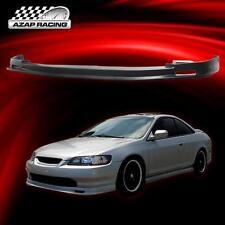 98-00 Mug Sty Black Poly-Urethane Front Bumper Lip Spoiler For Honda Accord 2Dr