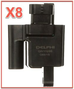 8 Square Ignition Coil OEM Delphi for Cadillac Chevy GMC Hummer V8