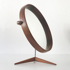 XL Mid Century TEAK TABLE MIRROR by UNO & ÖSTEN KRISTIANSSON for LUXUS Sweden