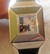 LAMB Gwen Stefani Pharaoh Stainless Steel Watch Black White DIal LB08-1003B L@@K