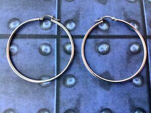 """SU 925 Large 2"""" Hoop Earrings"""