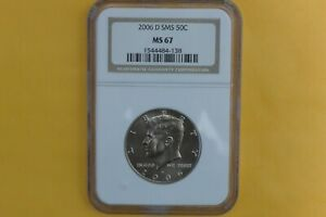 2006 D Satin MS67 Kennedy Half Dollar Graded By NGC