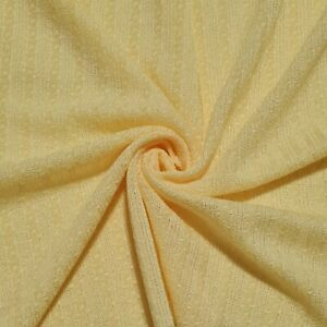"""Lace Knit Fabric Yellow Colour 55"""" Wide Sold By The Metre"""