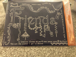 Groovi parchment Embossing Plate - Friends. New & Sealed.